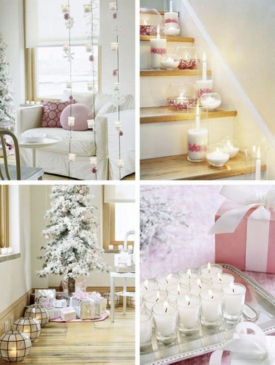 Deco navidad rosa